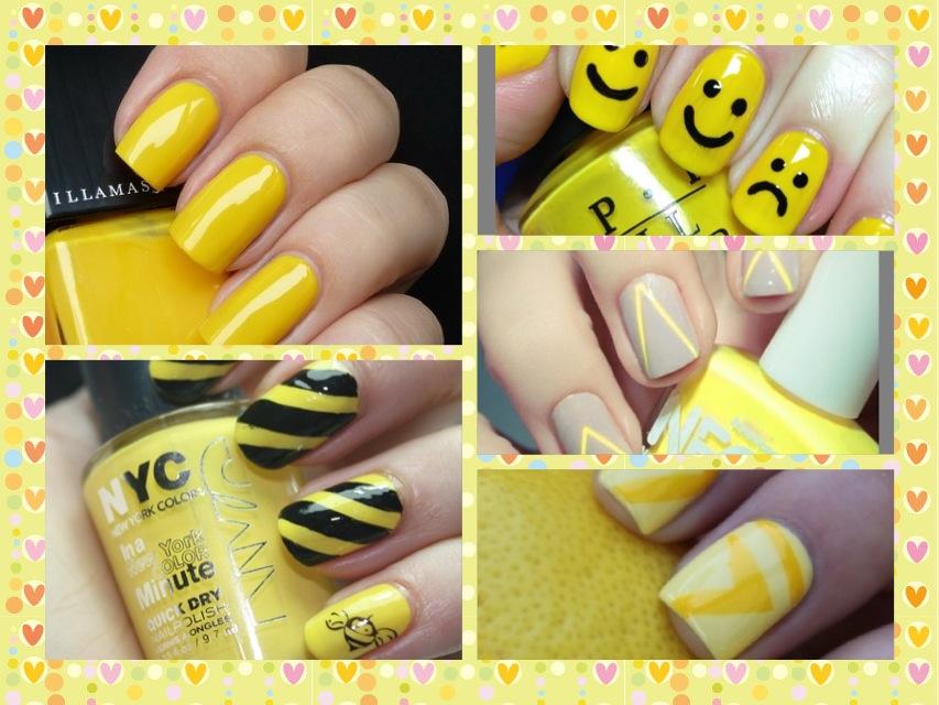 50 Unhas pintadas e decoradas de Amarelo