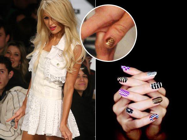 Unha Decorada Paris Hilton