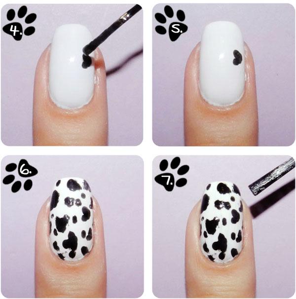 decoração unhas de dalmata