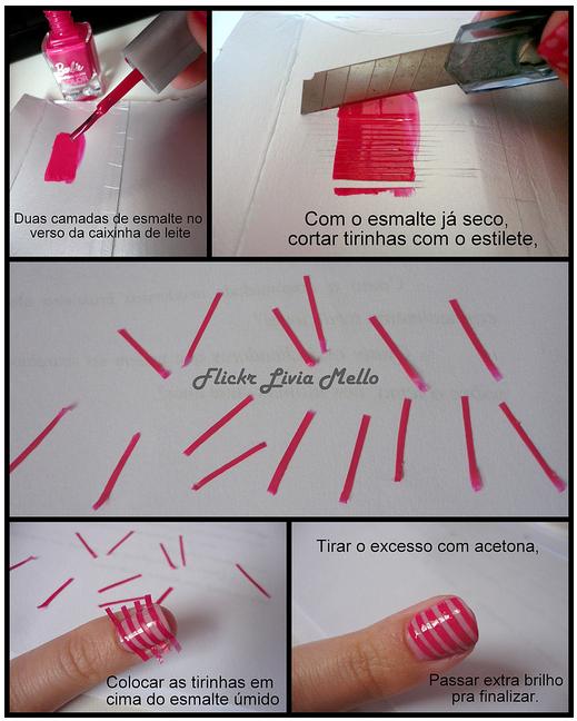 DICA: Como fazer listras perfeitas de maneira fácil!
