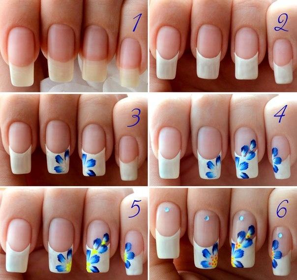Tutorial unhas com florzinhas