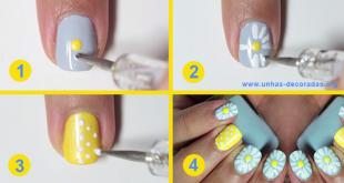Tutorial passo a passo decoração de unhas com flores