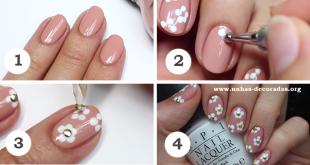 como fazer unhas decoradas com florzinha