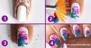 tutorial unhas coloridas