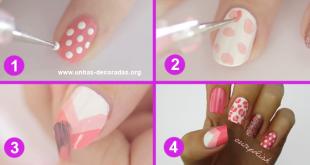 unhas romanticas em pink tutorial