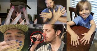 homens com unhas pintadas moda