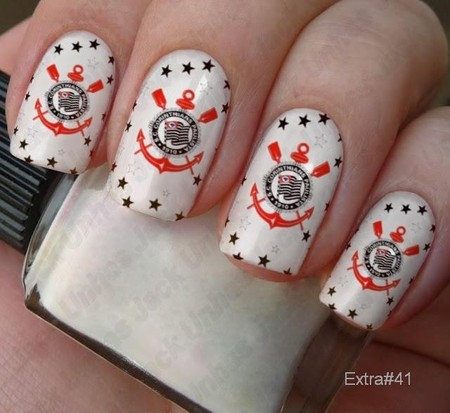 unhas decoradas do corinthians