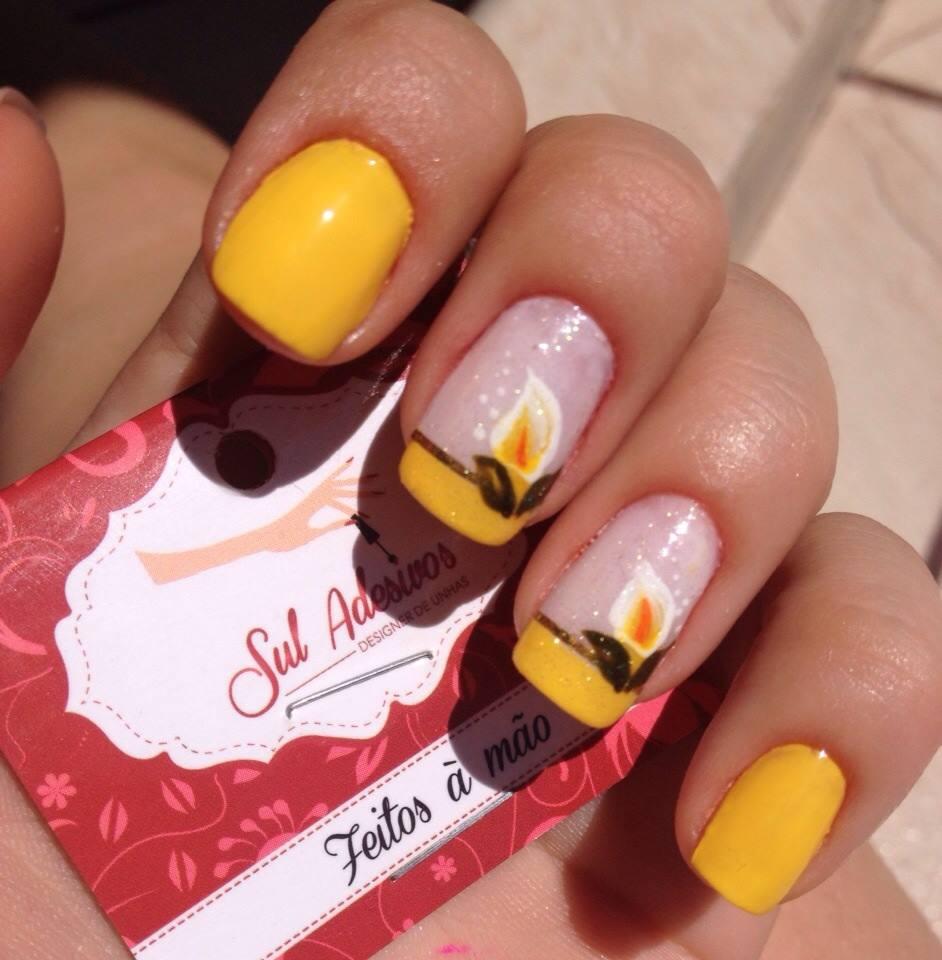 unhas-pintadas-esmalte-amarelo (24)