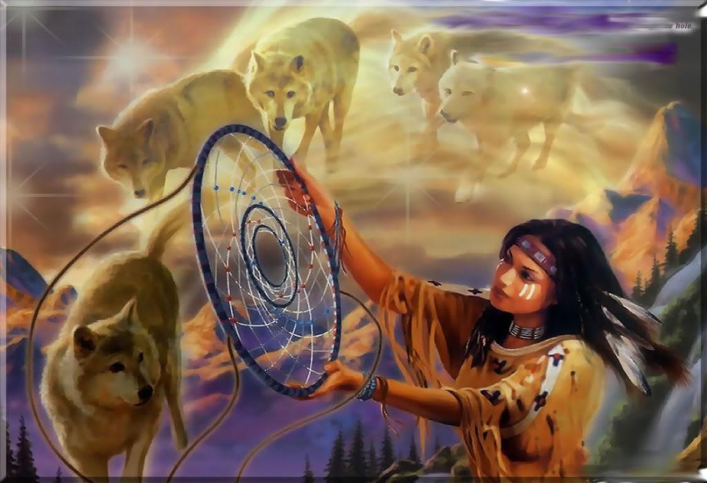 dreamcatcher native wolf spirit wallpaper - photo #7