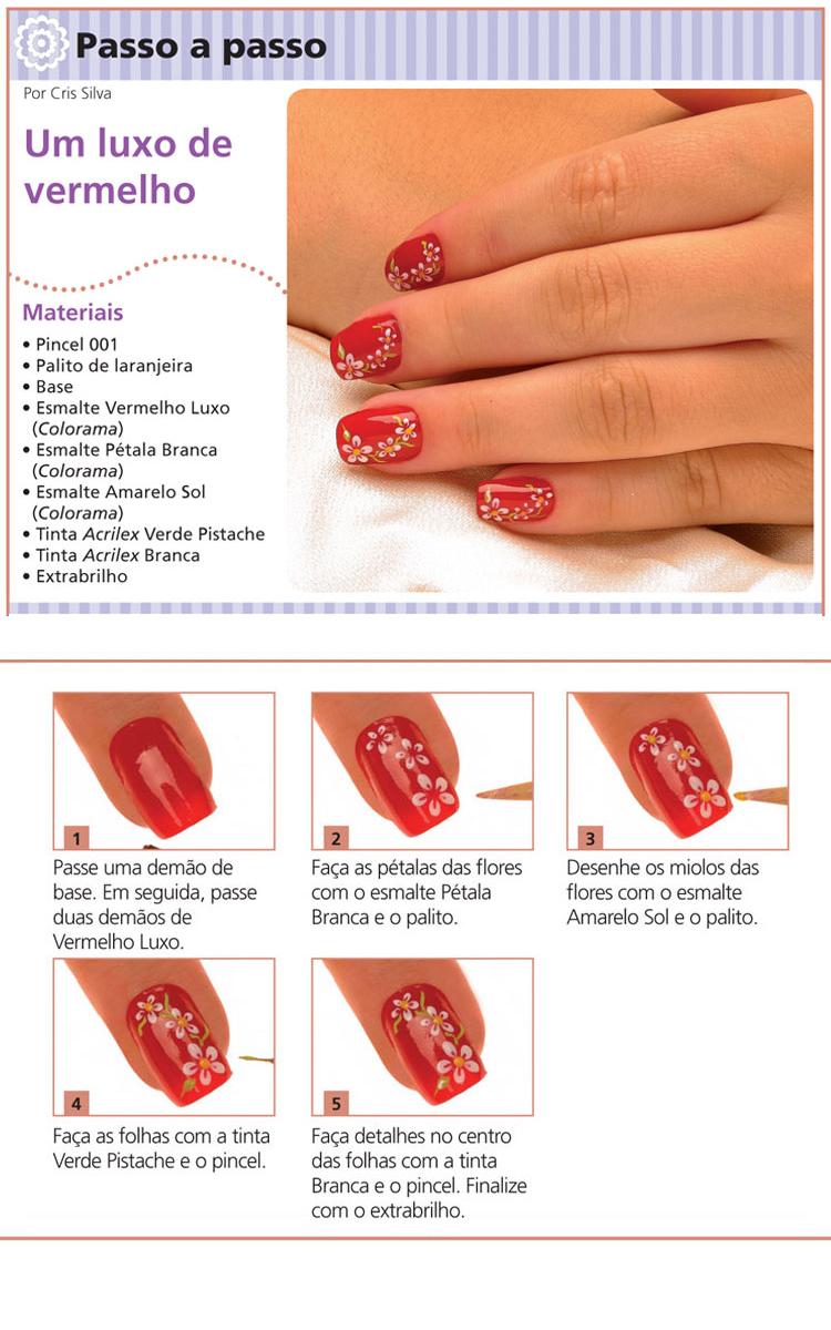 Mini tutorial um luxo de vermelho