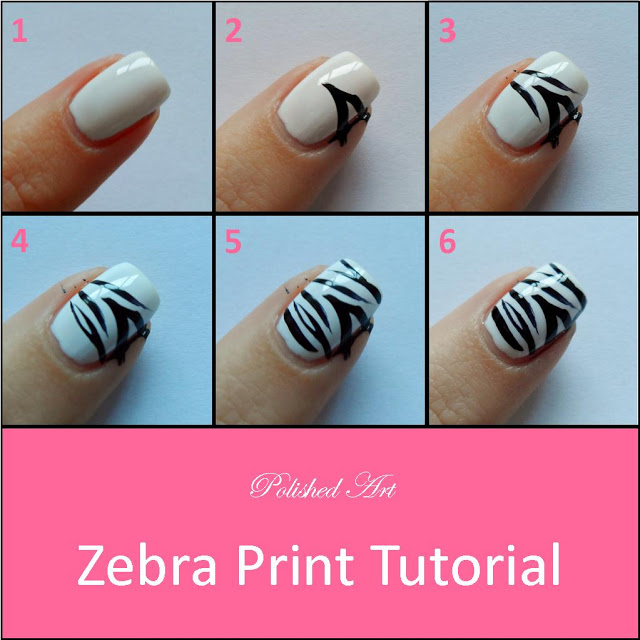 Tutorial Unhas de Zebra