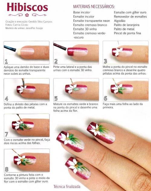 Tutorial decoração com a flor Hibisco