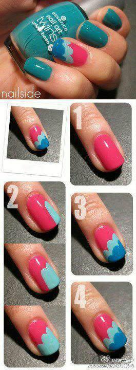 Tutorial simples ondinhas coloridas