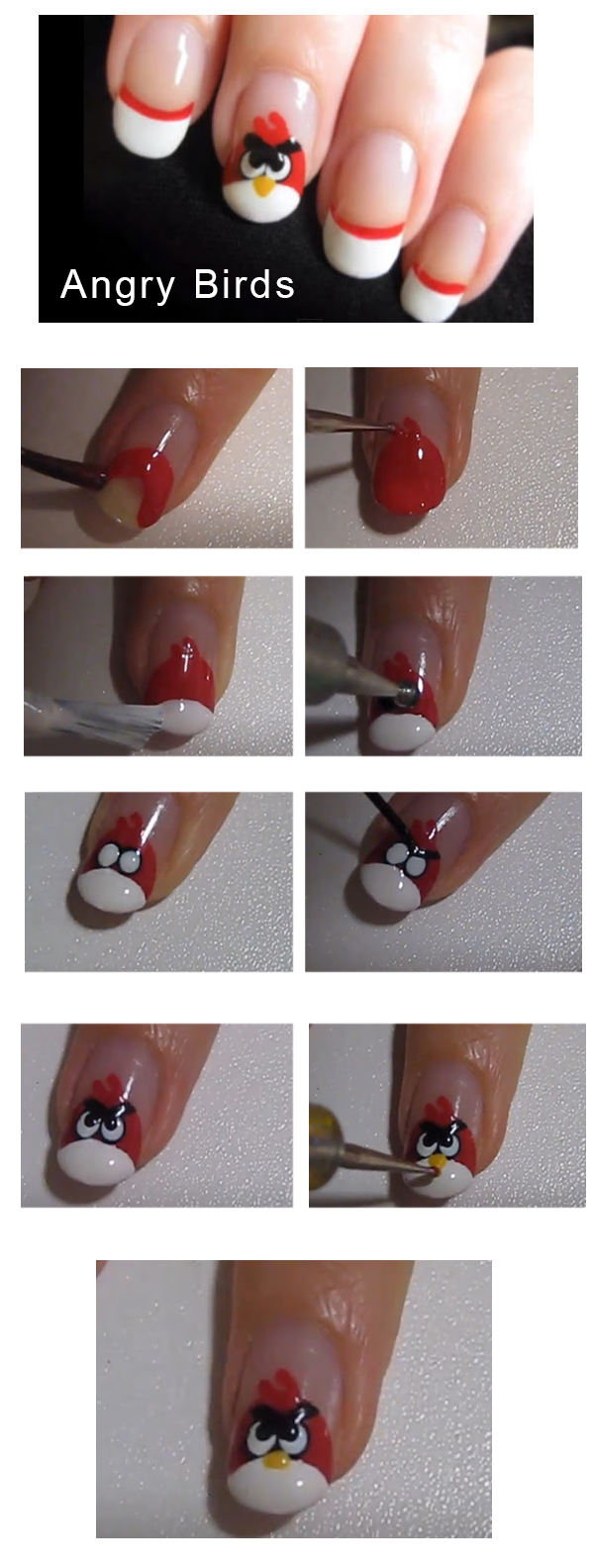 Tutorial unhas com Angry Birds