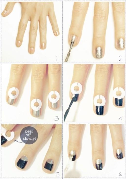 Tutorial unhas decoradas com meia Lua