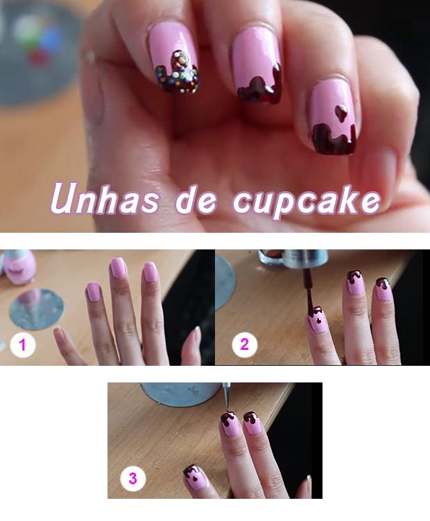 unhas de cupcake