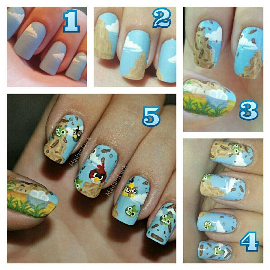 Angry Birds Nails Art