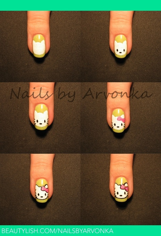 Hello Kitty - Tutorial simples