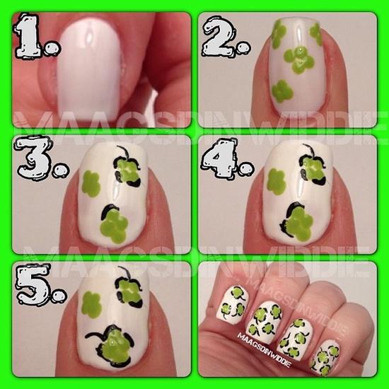 Mini tutorial unhas decoradas com desenho de maçãs