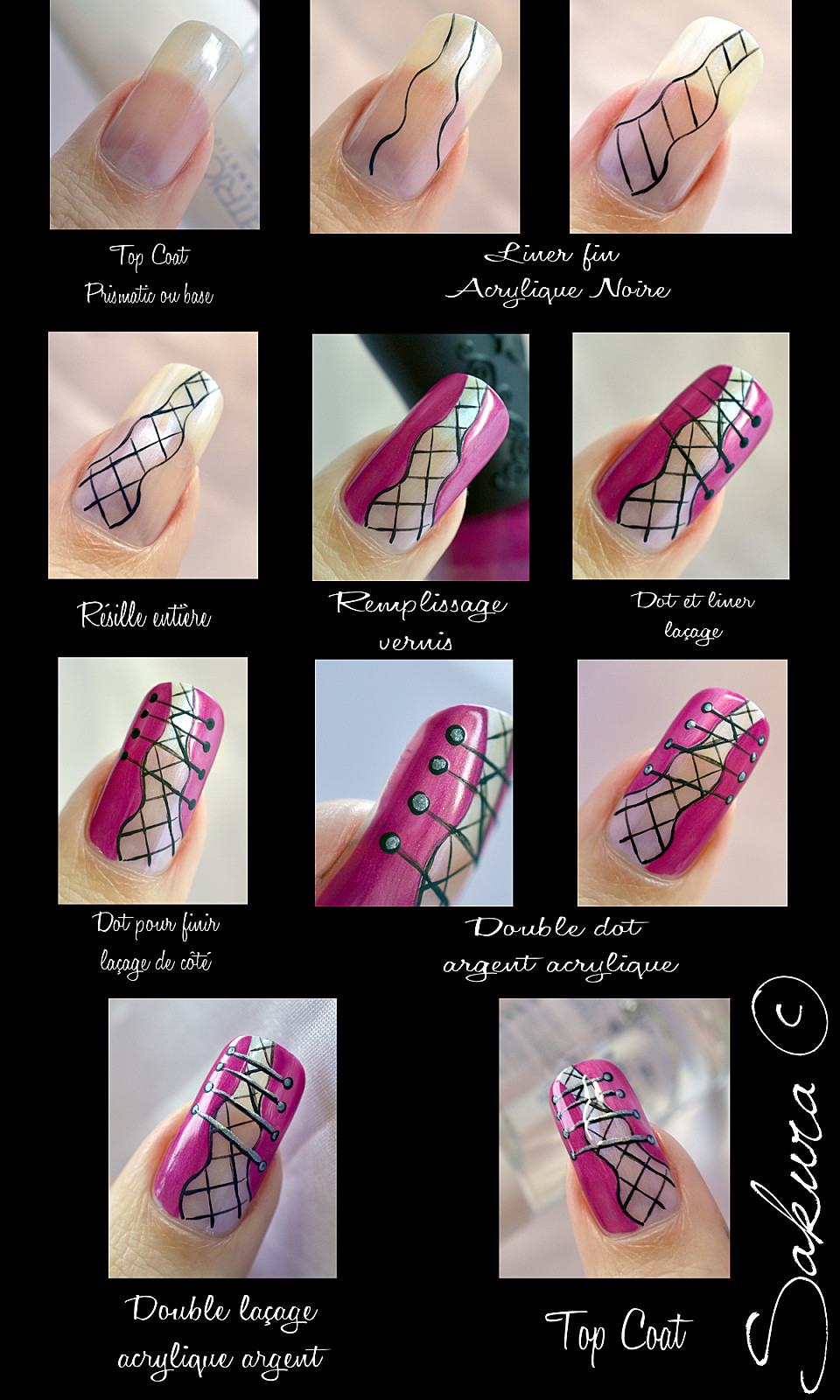 Tutorial unhas decoradas de espartilho