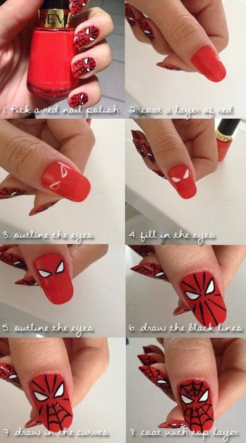 Mini Tutorial desenhar máscara do Homem Aranha