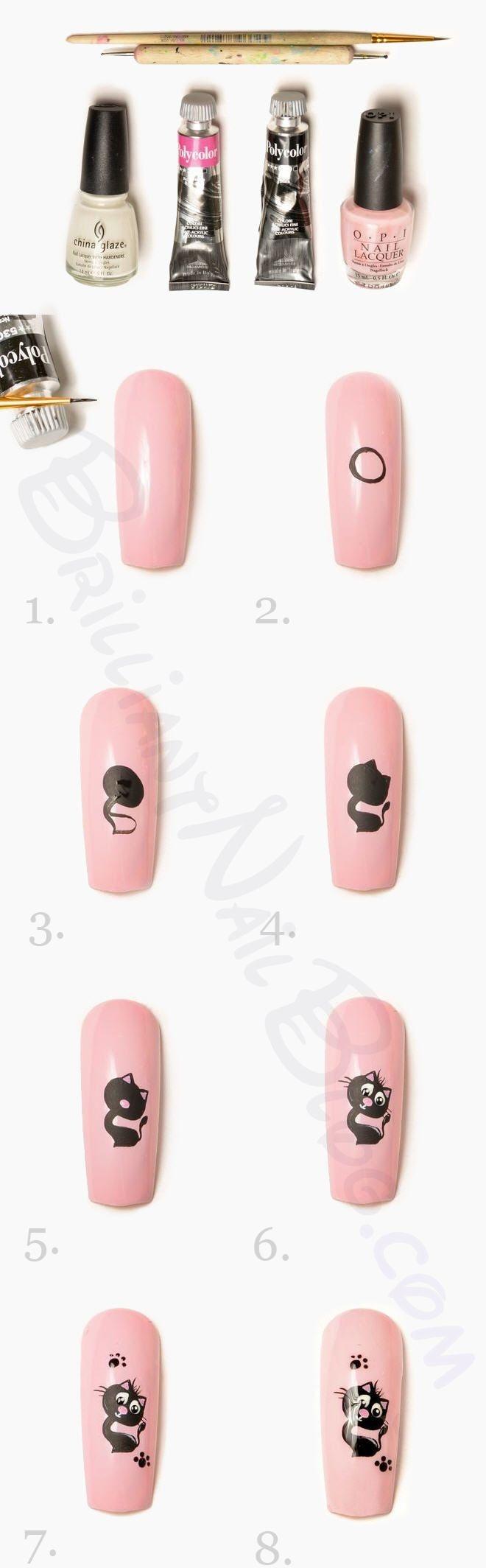 Tutorial Gatinho preto e rosa