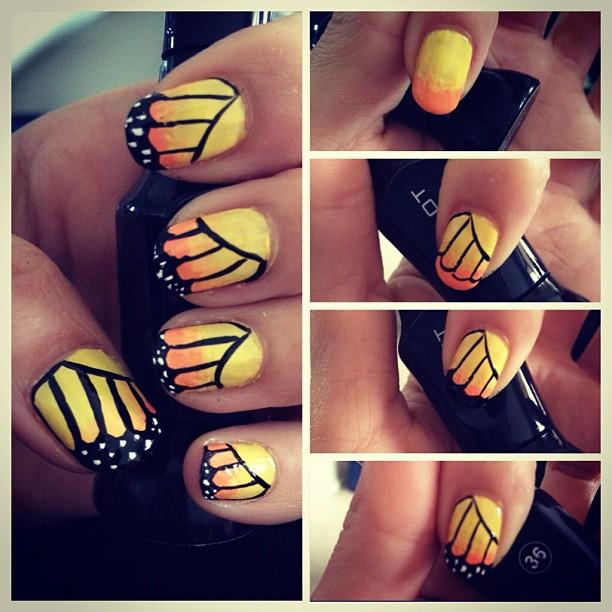 tutorial borboleta amarela