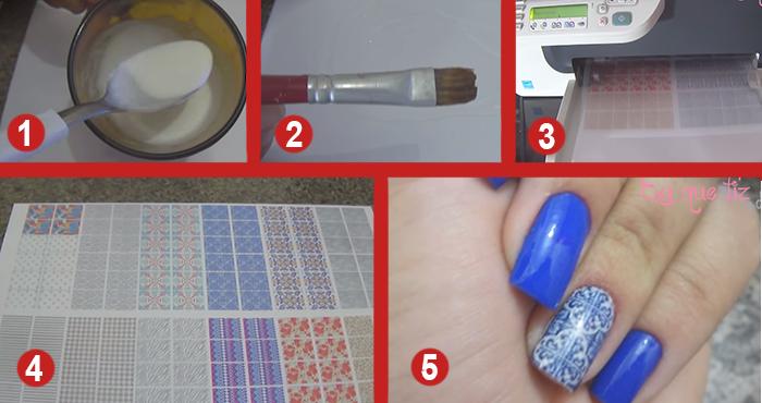 Artesanato Reciclado De Natal ~ Como fazer adesivos de unha na impressora e como aplicar nas unhas