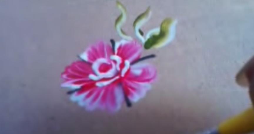 Tutorial Adesivo Caseiro Desenho De Flor Mexicana