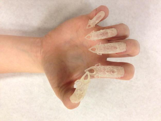 unhas decoradas com impressora 3D (2)
