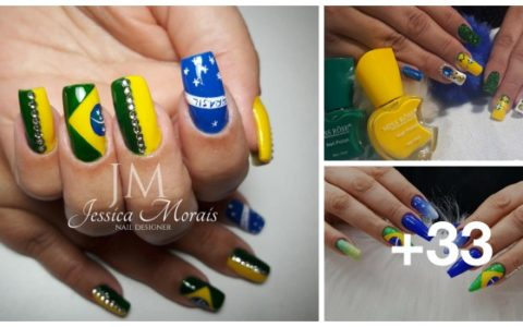 33 Ideias de unhas decoradas para Copa do Mundo