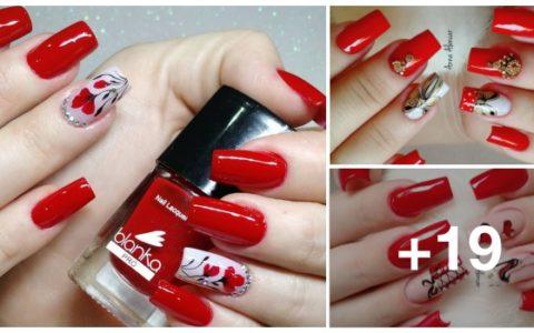 Melhores modelos de unhas vermelhas decoradas para copiar cover